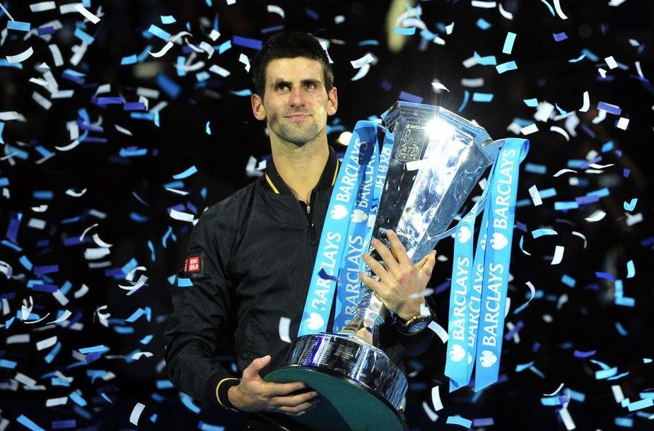 """Novakas Džokovičius antrą kartą tapo """"ATP World Tour Finals"""" turnyro nugalėtoju"""