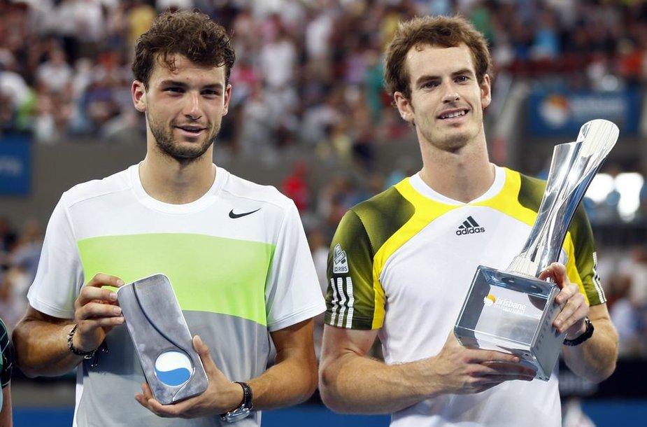 Grigoras Dimitrovas antrą kartą karjeroje turėjo pripažinti Andy Murray pranašumą