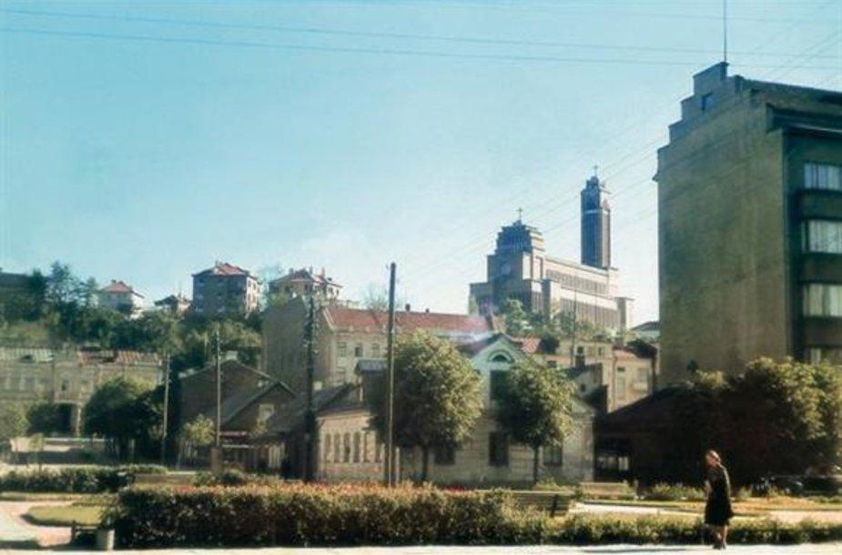 Vaizdas į Žaliakalnį nuo Vienybės aikštės 1939 m.