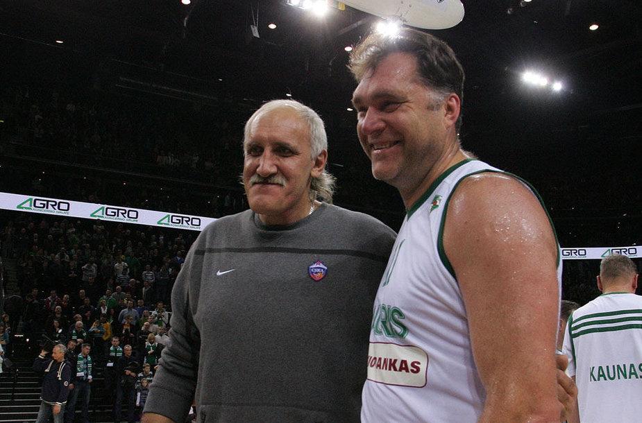 Vladimiras Tkačenka ir Arvydas Sabonis