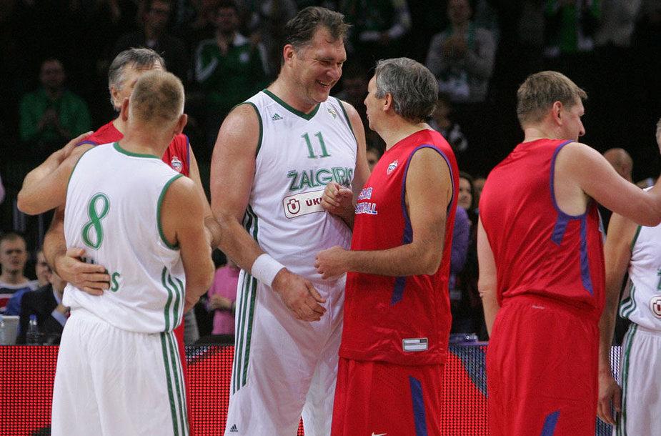 """Kauno """"Žalgirio"""" ir Maskvos CSKA veteranų susitikimas"""