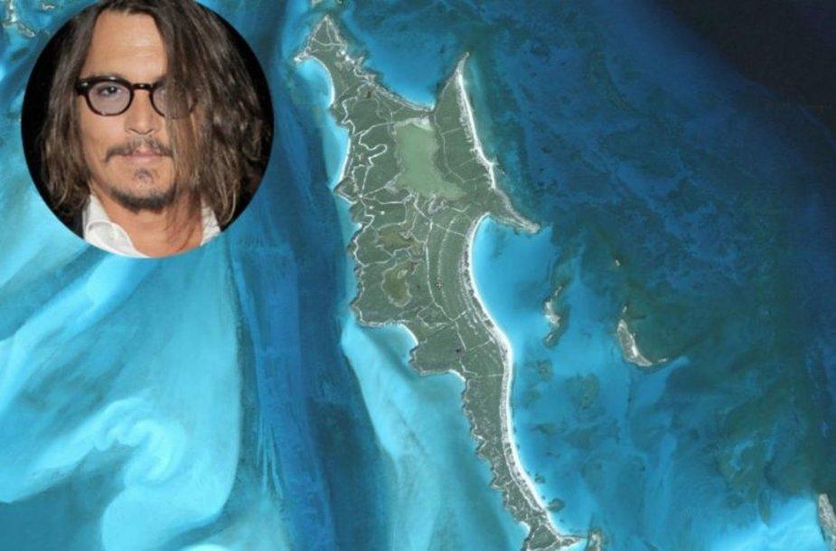 """Aktorius Johnny's Deppas sumokėjo 3,6 mln. dolerių (beveik 9 mln. litų) už mažytę 18 hektarų smelio salą Bahamų salyne. Holivudo aktorius ją pastebėjo 2004 metais per filmo """"Karibų piratai"""" filmavimą."""