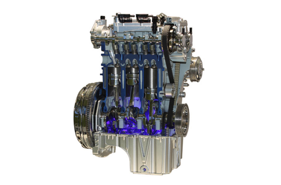 "1,0 litro ""EcoBoost"" variklio pjūvis"