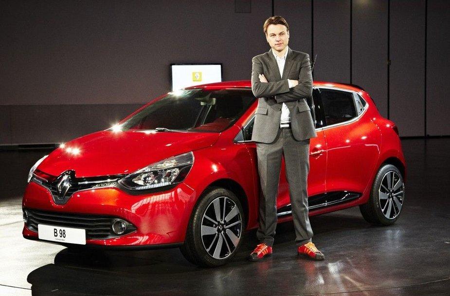 """""""Renault Clio"""" ir jo kūrėjas Laurensas van den Ackeris"""