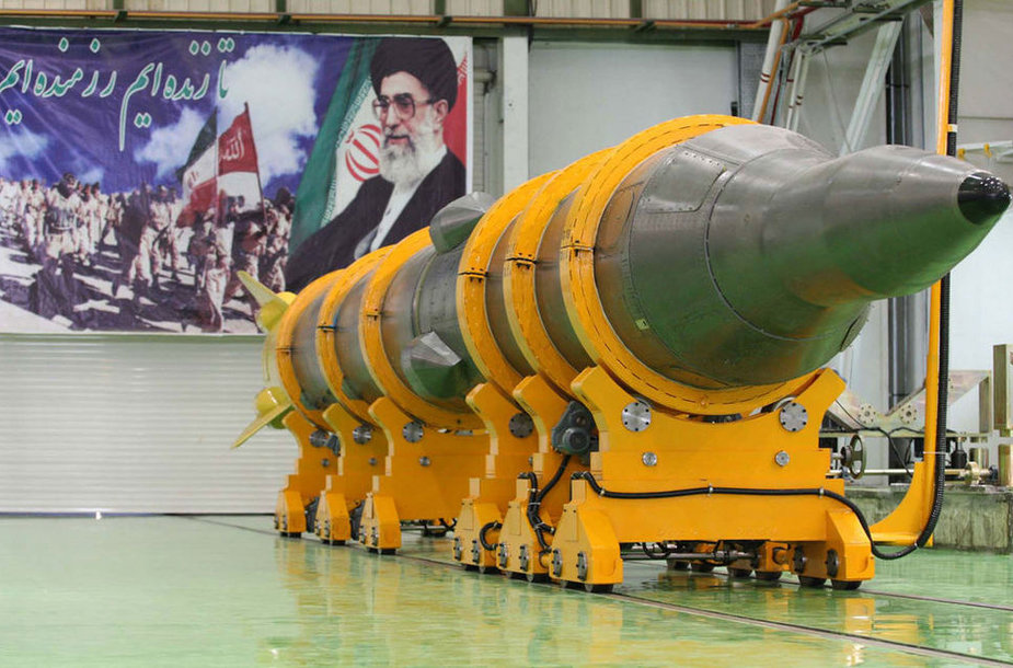 A picture shows the new medium-range surface to surface missile, named Sejil-2, at an undisclosed location in Iran prior to its test-firing on May 20, 2009. President Mahmoud Ahmadinejad announced that Iran had successfully test-fired the new missile, drawing a warning from Israel that Europe too sh