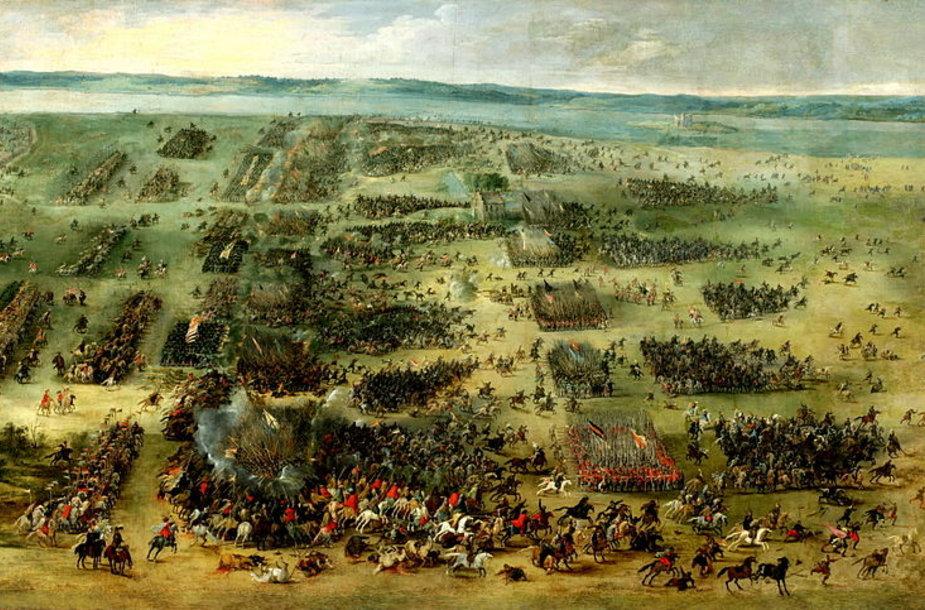 """Pieterio Snyerso paveikslas """"Kircholmo mūšis"""""""