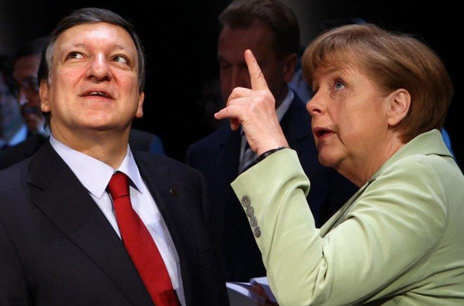 Жозе Мануэль Баррозу и Ангела Меркель