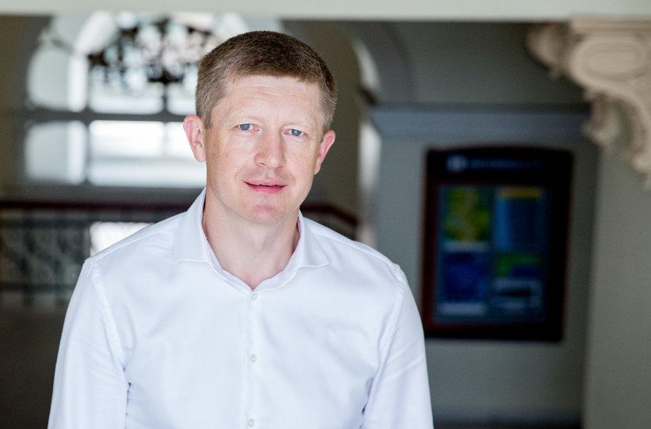 Lietuvos geležinkelių Prevencijos vadovas Rolandas Šlepetys
