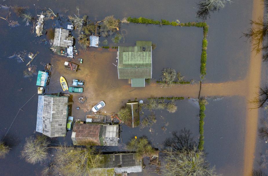 Potvynis Nemuno deltos regioniame parke