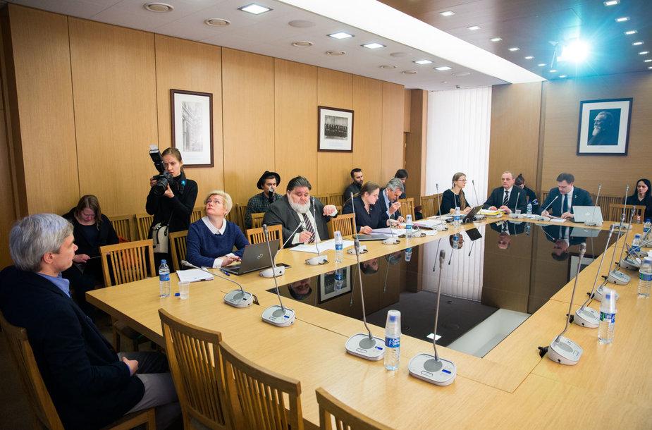 Laikinosios tyrimo komisijos dėl LRT veiklos posėdis.