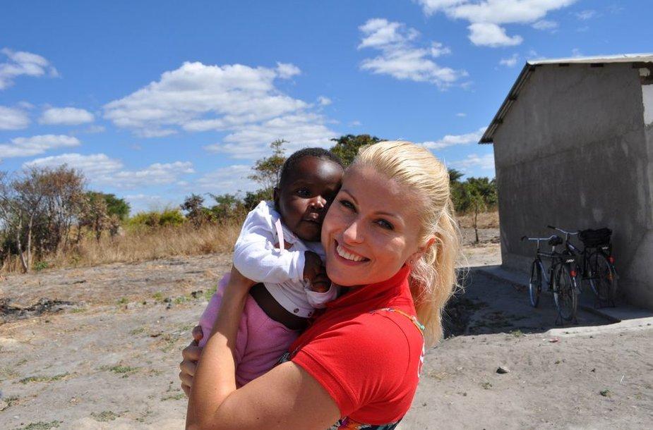 Rūta Mikelkevičiūtė Zambijoje