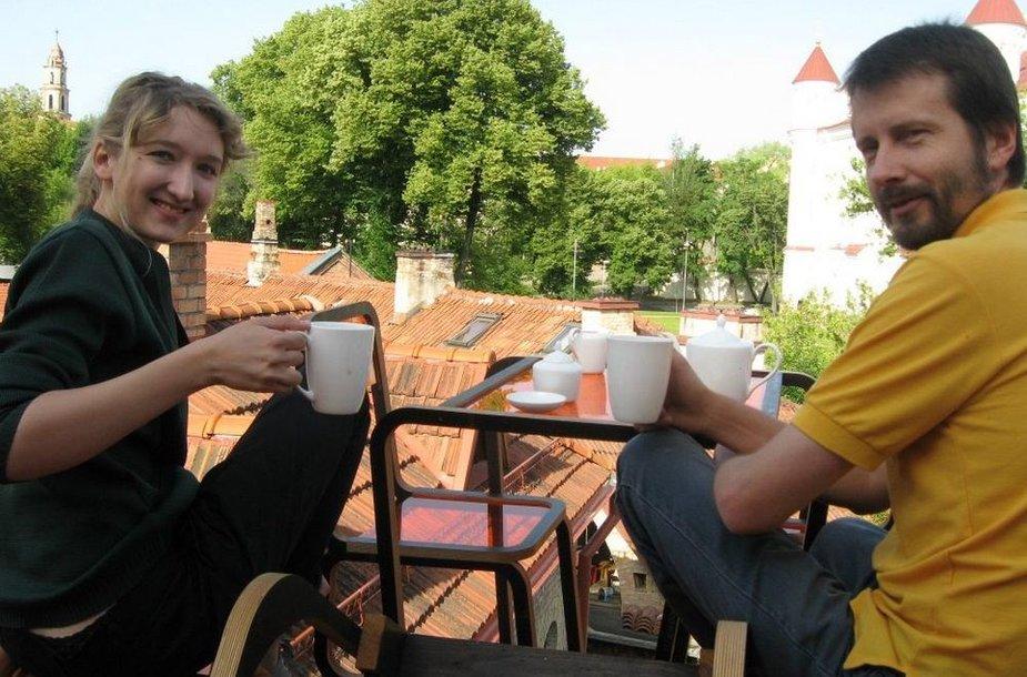 Dizainerė Ainė Bunikytė ir UMI direktorius Giedrius Bagdonas