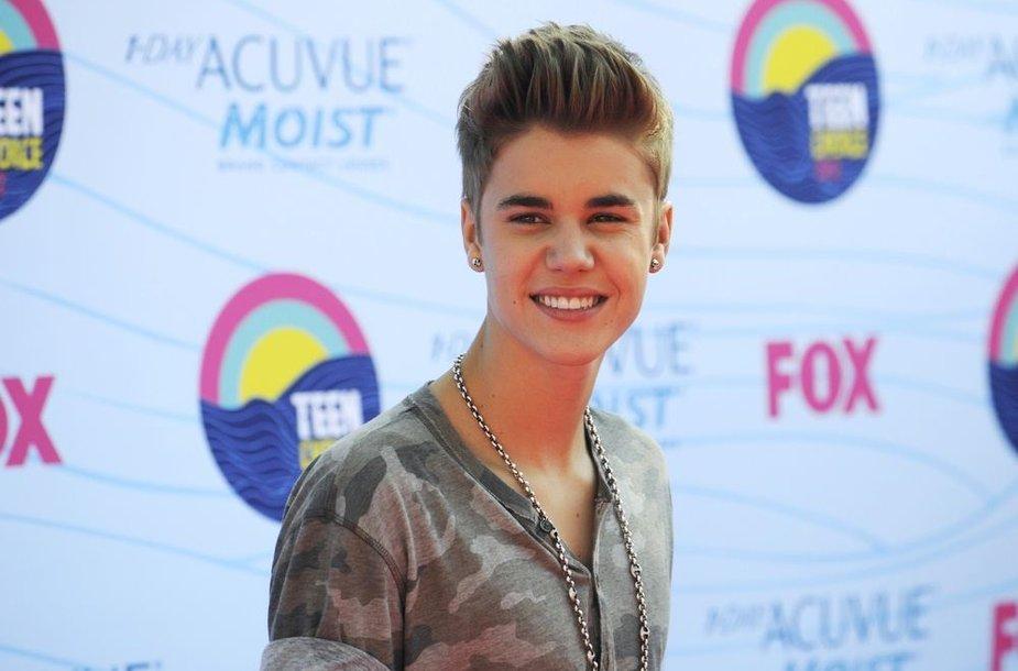 Dainininkas Justinas Bieberis