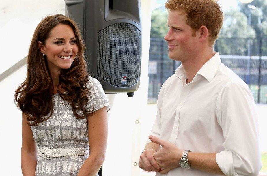 Princas Harry ir hercogienė Catherine