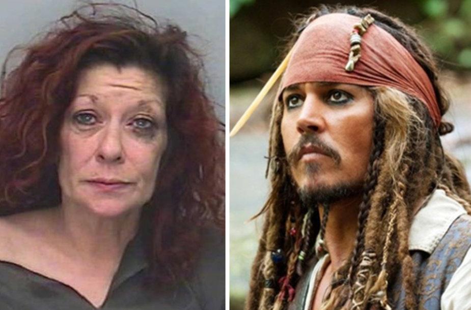 Alison Whelan įsijautė į garsiojo pirato Džeko Sperou, kurį kine vaidino Johnny Deppas, rolę.