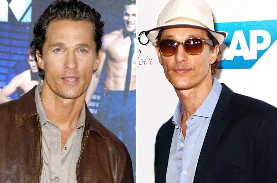 Aktorius Matthew McConaughey – anksčiau ir dabar