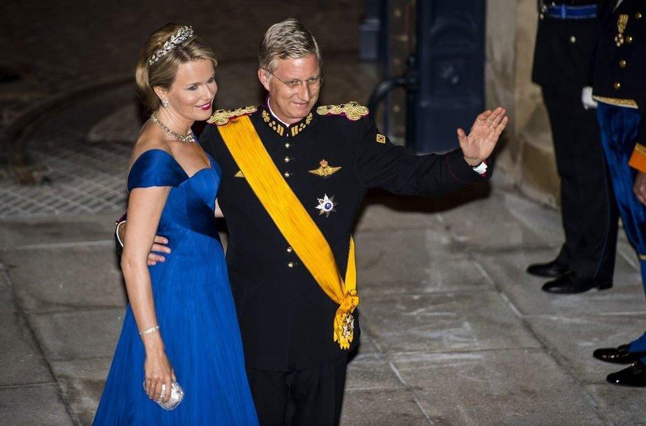 Belgijos princas Philippeas ir princesė Mathilde