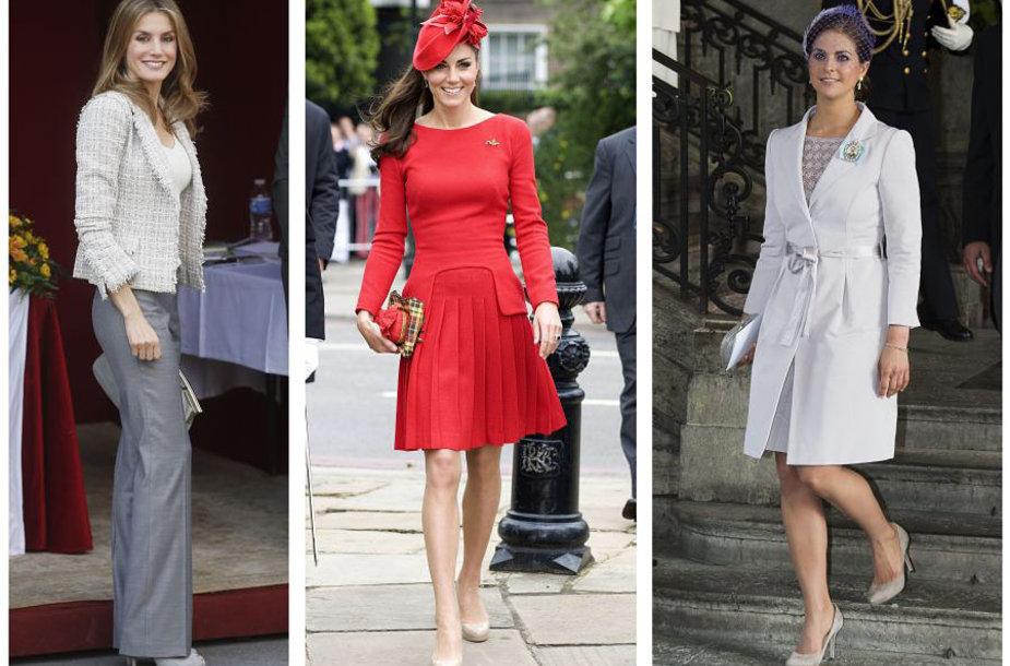 Iš kairės į dešinę: princesė Letizia, Kembridžo hercogienė Catherine ir Švedijos princesė Madeleine