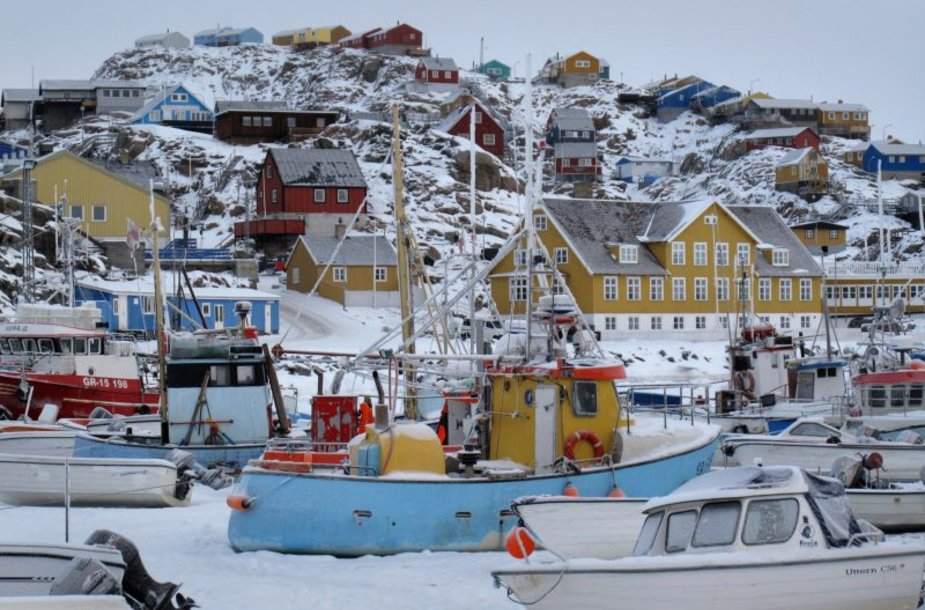 Vakarų Grenlandijoje įsikūręs spalvingas Umanako miestas