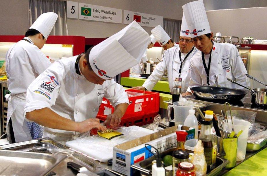 """Liono mieste, Prancūzijoje, vykstantis kulinarinis konkursas """"Bocuse d'Or"""""""