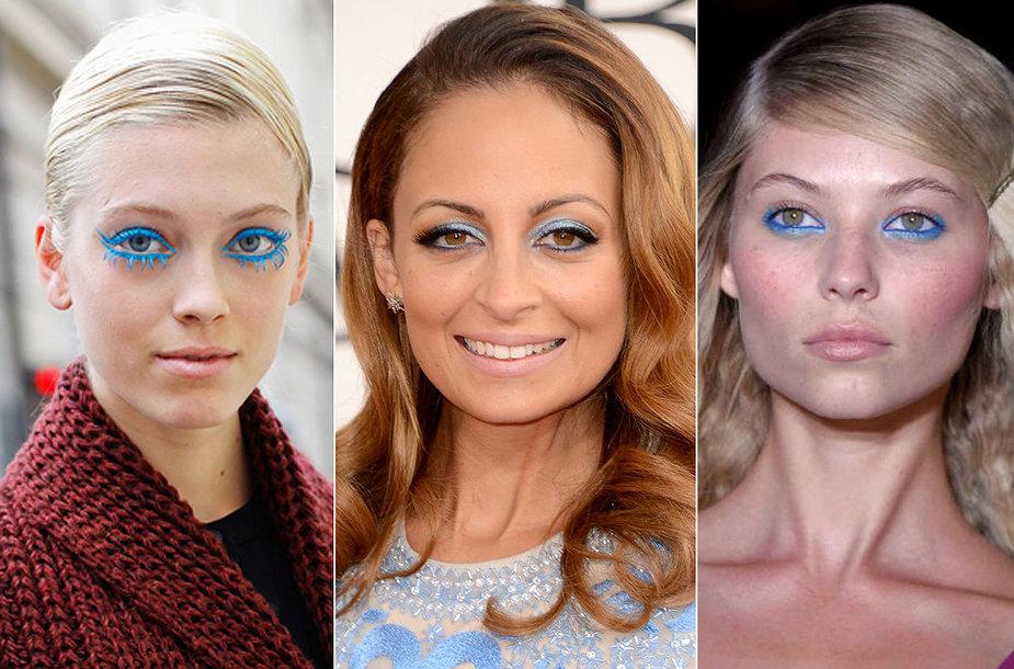 Mėlyno akių makiažas