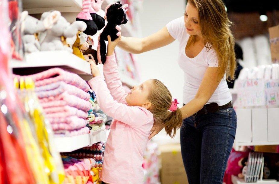 Vaikas parduotuvėje. Kaip išvengti skandalo?