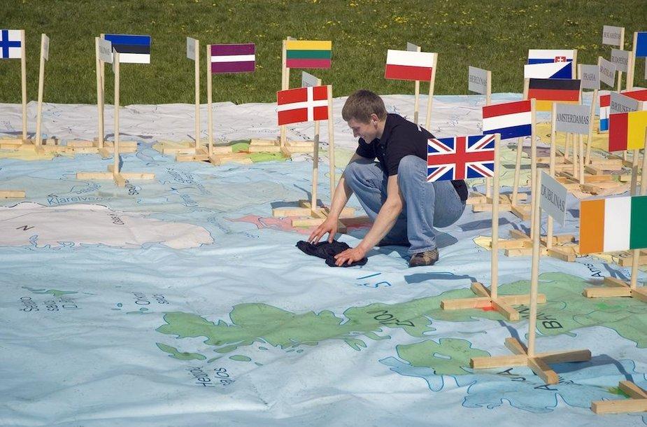 Europos Sąjungos žemėlapis