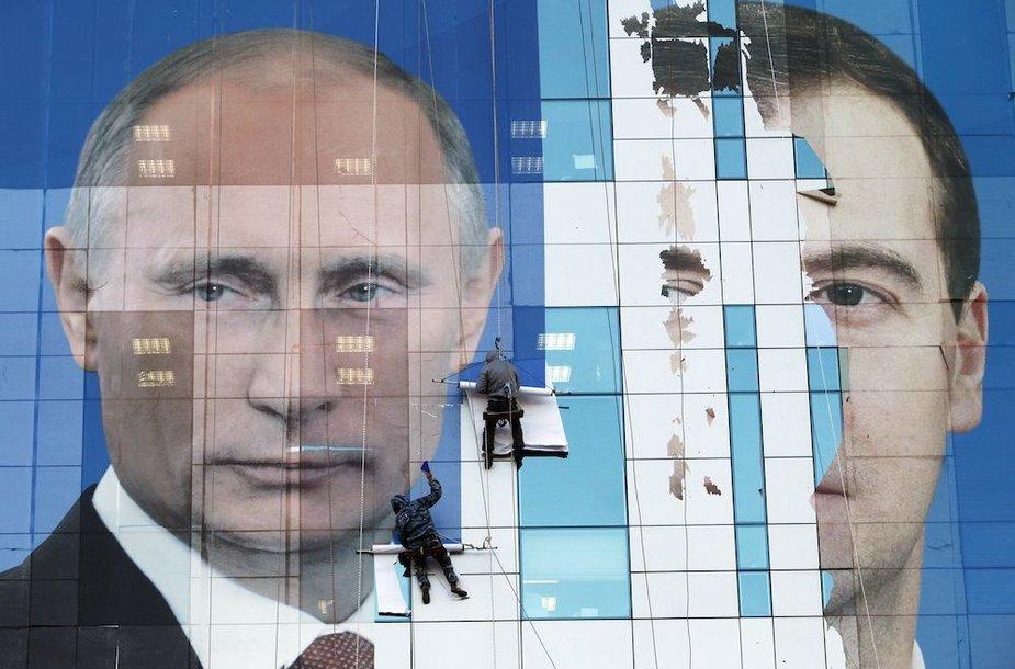 V.Putino ir D.Medvedevo tandemas eina pramintu keliu.