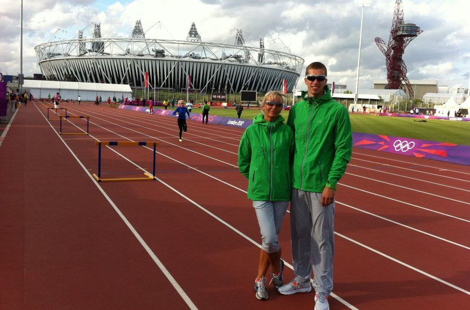 Raivydas Stanys su trenere