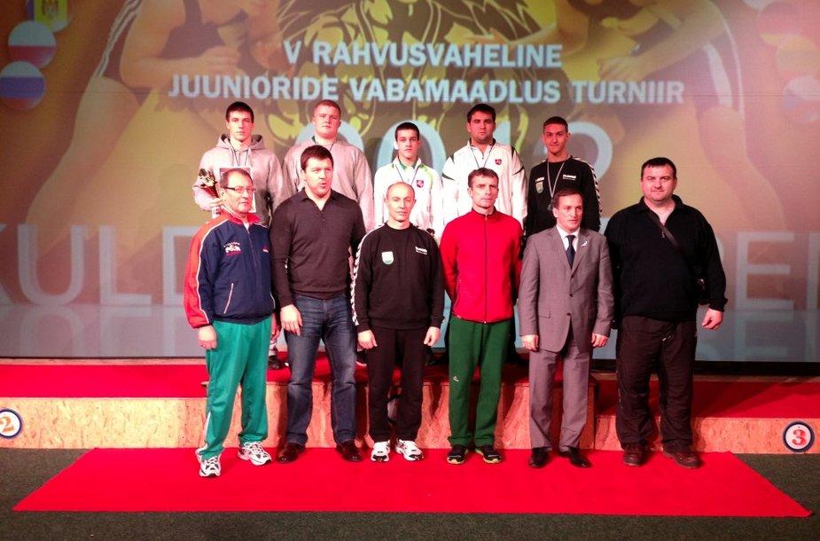 Lietuvos delegacija imtynių turnyre