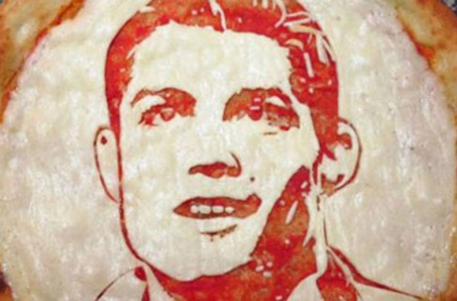 Cristiano Ronaldo atvaizdas ant picos