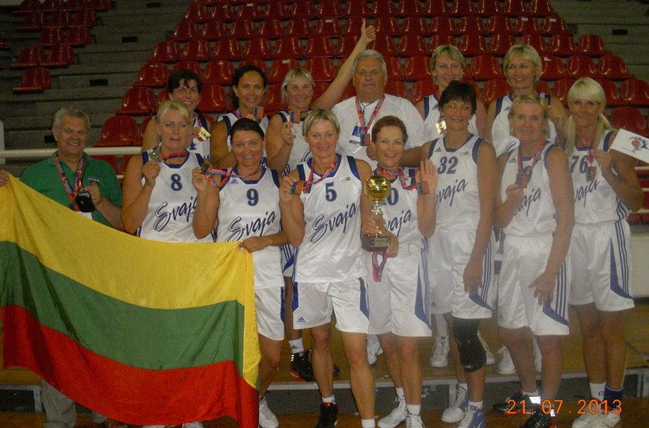 """""""Svaja"""" tapo pasaulio veteranų krepšinio čempionato čempionėmis"""