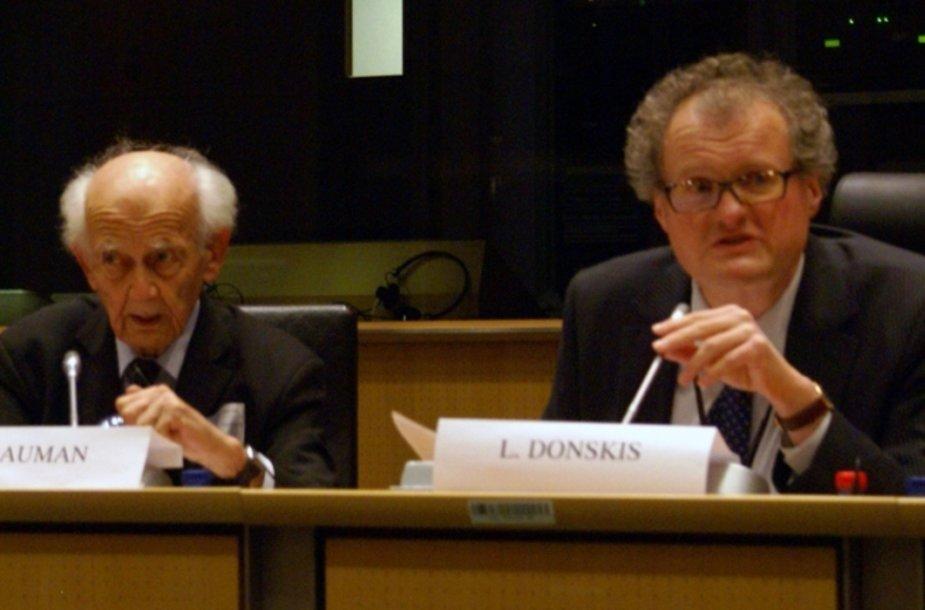 Z. Baumanas ir L. Donskis diskusijoje Briuselyje
