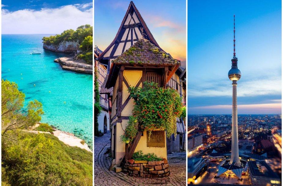 TOP3 šalys: Ispanija, Prancūzija ir Vokietija