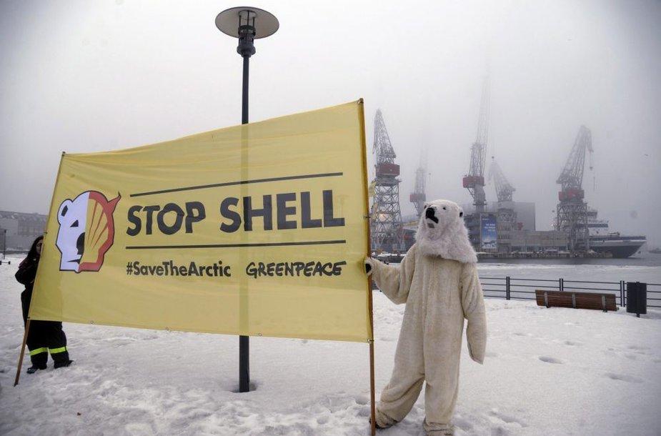 """Protestas prieš """"Shell"""""""