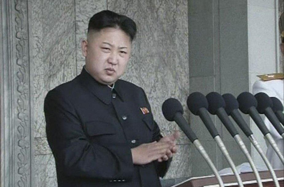 Šiaurės Korėjos diktatorius Kim Jong Unas