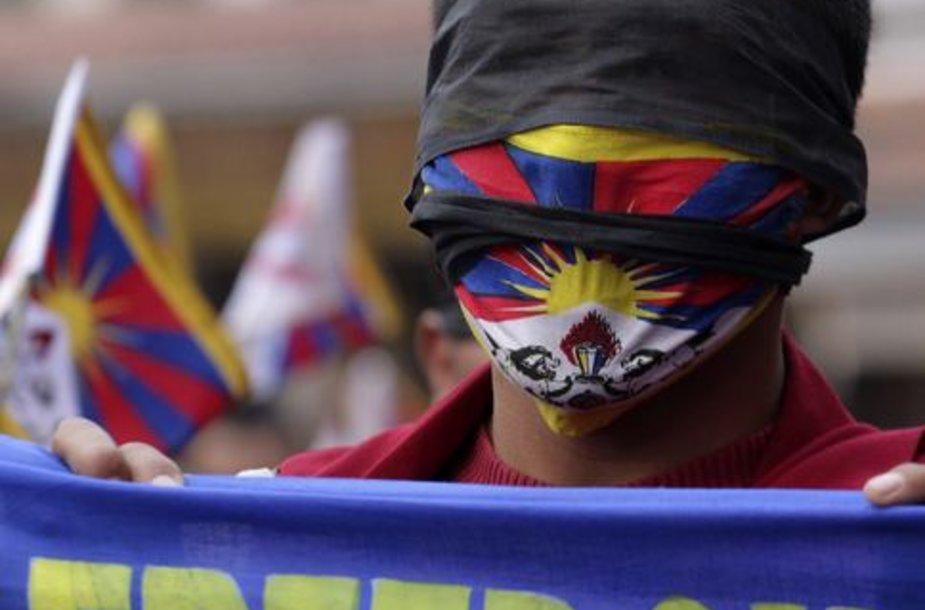 Tibetietis protestuotojas