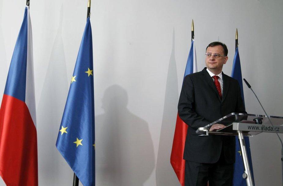 Čekijos premjeras Petras Nečasas