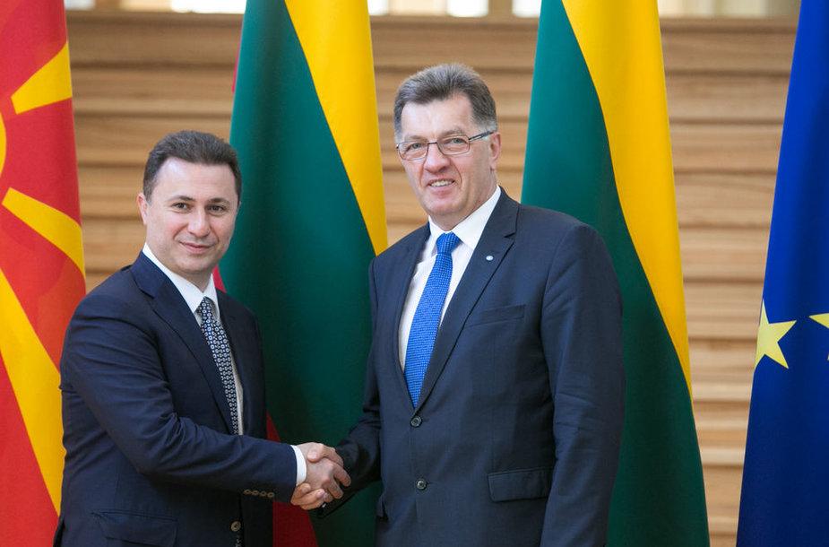 Nikola Gruevskis ir Algirdas Butkevičius
