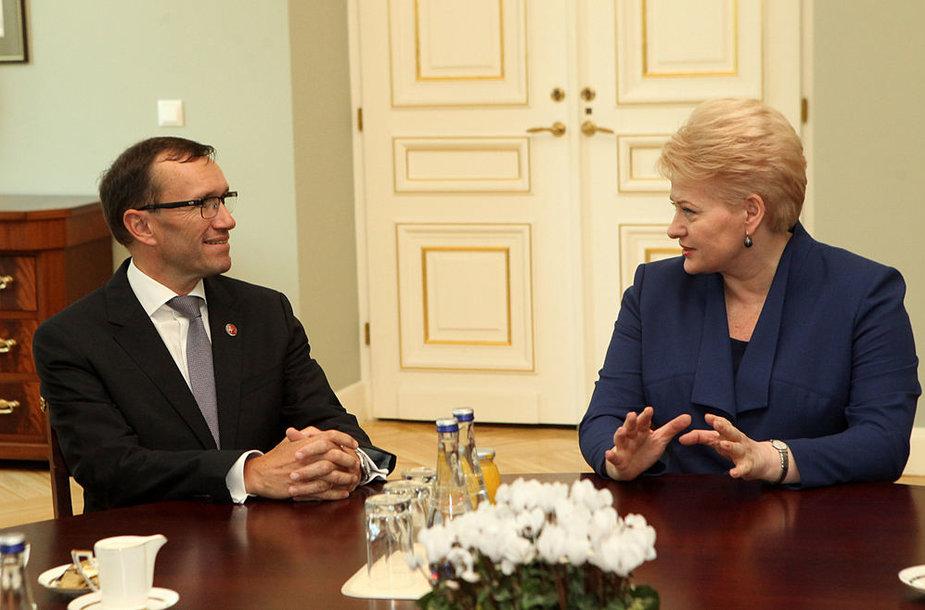 Norvegijos užsienio reikalų ministras Espenas Barthas Eide ir Dalia Grybauskaitė