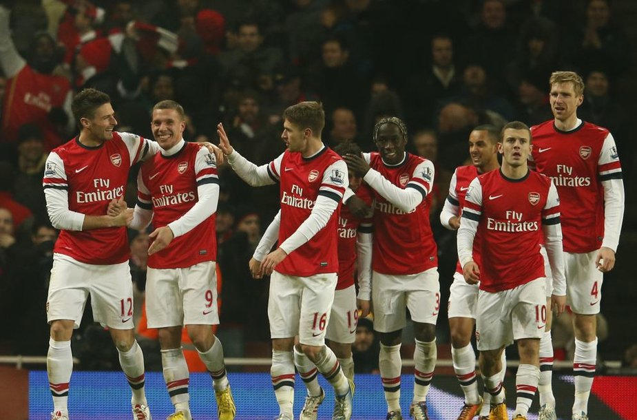 "Londono ""Arsenal"" futbolininkai."