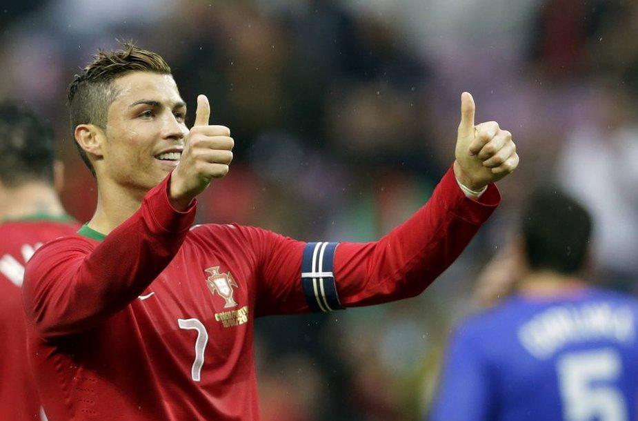 Cristiano Ronaldo įmušė pergalingą įvartį.