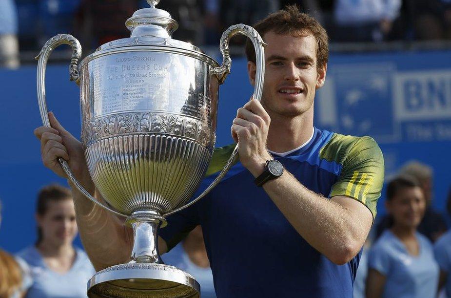 "Andy Murray'us džiaugiasi pergale ""Aegon Championships"" turnyra"
