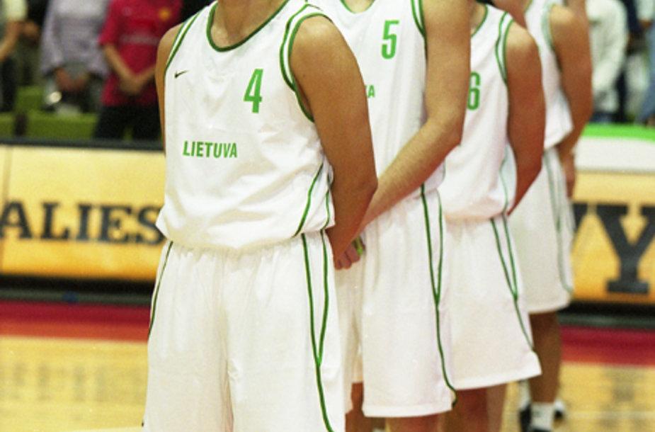 Lietuvos krepšinio rinktinė. 2003 rugpjūčio 5 d.