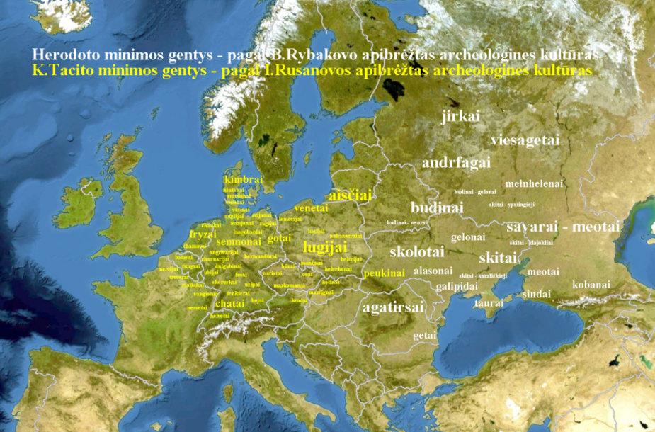 Tacito ir Herodoto minimos gentys pagal archeologinius duomenis