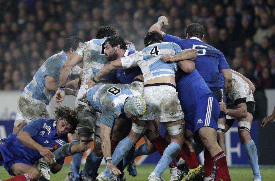 Argentinos ir Prancūzijos regbio rinktinių mače pergalę šventė europiečiai 39:22