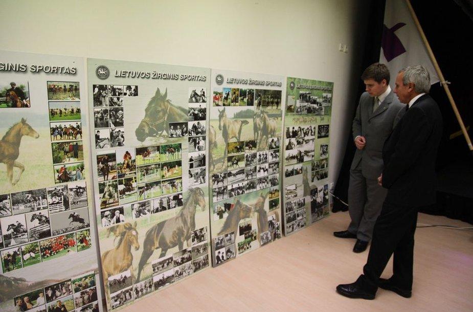 Lietuvos žirginio sporto federacijos jubiliejuje buvo surengta ir paroda.
