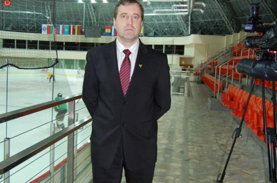 """Vyriausias HC """"Balticos"""" treneris Aigaras Ciprusas"""