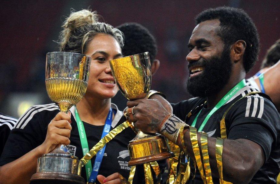 Pasaulio septiniukių regbio čempionate aukso medalius laimėjo Naujosios Zelandijos vyrų ir moterų rinktinės