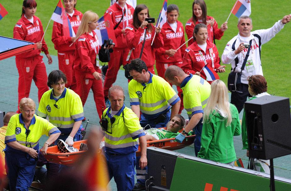 Sekmadienį Lietuvos delegaciją dalyvavo XII Europos jaunimo vasaros olimpinio festivalio Utrechte atidarymo ceremonijoje